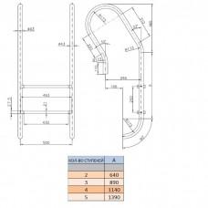 Лестница Kripsol Mixta MXI 3.D (3 ступ.)