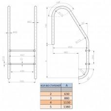 Лестница Kripsol Standard PI 3.D (3 ступ.)